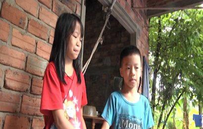 3  chị em mồ côi ở xã Quế Long (Quế Sơn) đang cần sự giúp đỡ