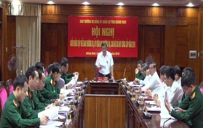 Đảng ủy Quân sự tỉnh hội nghị kiểm điểm tập thể Ban Thường vụ, Ủy viên Ban Thường vụ và cán bộ chỉ huy cùng cấp năm 2019