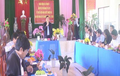 Bí thư Tỉnh ủy Phan Việt Cường làm việc với Đảng ủy xã Tư, huyện Đông Giang