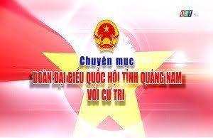 Chuyên mục Đoàn đại biểu quốc hội tỉnh Quảng Nam với cử tri (6-6-2020)