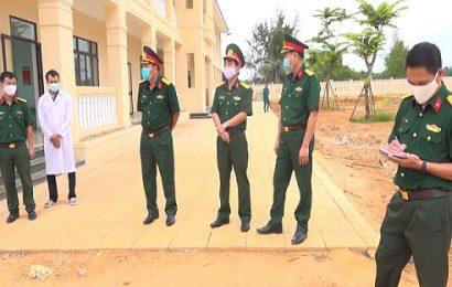 Bộ CHQS tỉnh kiểm tra công tác cách ly công dân ở cấp huyện