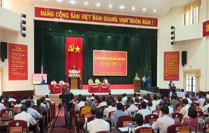 Khai mạc kỳ họp thứ 16, HĐND tỉnh khóa 9