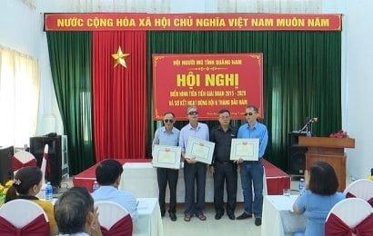Hội người mù Quảng Nam hội nghị điển hình tiên tiến giai đoạn 2015 – 2020