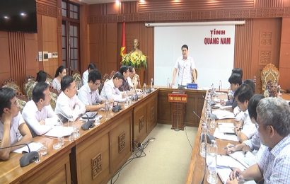 Phó Chủ tịch UBND tỉnh Trần Văn Tân làm việc với Công ty Cổ phần Cấp thoát nước Quảng Nam