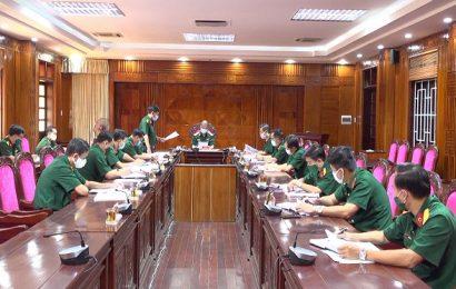 Đoàn công tác Bộ Tư lệnh Quân khu 5 kiểm tra công tác phòng, chống dịch bệnh Covid-19 đối với Bộ CHQS tỉnh Quảng Nam