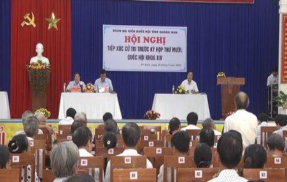 Đại biểu Quốc hội tỉnh Quảng Nam tiếp xúc cử tri thành phố Tam Kỳ
