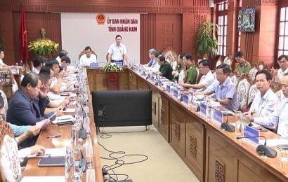Quảng Nam họp trực tuyến với các địa phương để ứng phó bão số 9