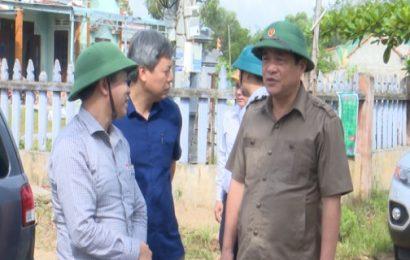 Bí thư Tỉnh ủy Phan Việt Cường kiểm tra công tác ứng phó bão số 9 tại huyện Thăng Bình và Duy Xuyên