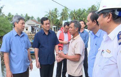 Bí thư Tỉnh ủy Phan Việt Cường kiểm tra công tác phòng chống bão tại huyện Núi Thành