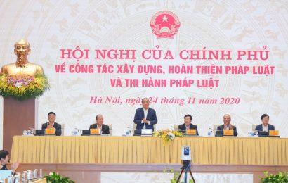 Hội nghị trực tuyến của Chính phủ về hoàn thiện và thi hành pháp luật