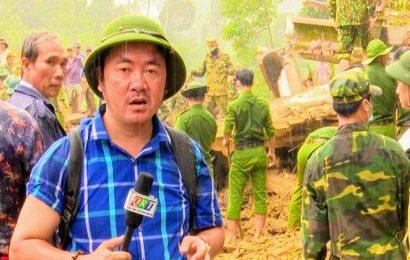 Phóng viên QRT tác nghiệp tại Nam Trà My