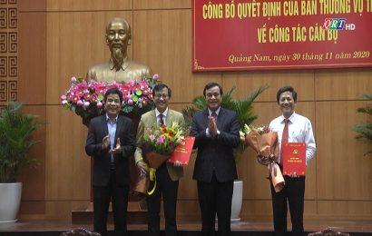 Tỉnh ủy Quảng Nam công bố các quyết định về công tác các bộ