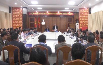 Chủ tịch UBND tỉnh Lê Trí Thanh làm việc với Sở Nông nghiệp-PTNT