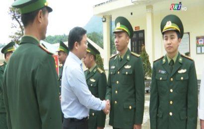 Chủ tịch UBND tỉnh Lê Trí Thanh thăm, chúc Tết các đồn biên phòng Nam Giang