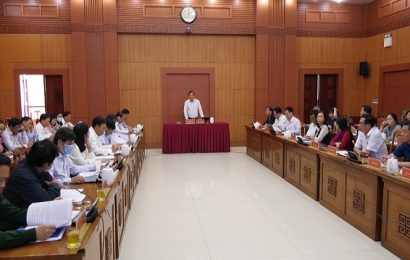 Thường trực HĐND tỉnh tổ chức kỳ họp chuẩn bị nội dung cho kỳ họp HĐND tỉnh sắp đến